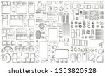 set of linear icons. interior... | Shutterstock .eps vector #1353820928