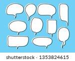 vector bubbles speech set. hand ...   Shutterstock .eps vector #1353824615