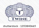 blue money style rosette with...   Shutterstock .eps vector #1353840665