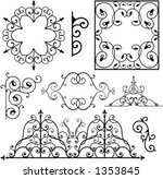 a set of 8 exquisitive and very ... | Shutterstock .eps vector #1353845