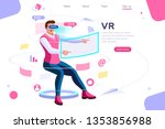 visual images  virtual... | Shutterstock . vector #1353856988