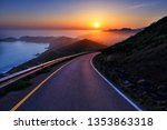 sunset turning road hd | Shutterstock . vector #1353863318