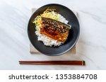 saba fish grilled with teriyaki ...   Shutterstock . vector #1353884708