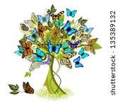 Tree Of Flying Butterflies