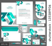 gray corporate identity... | Shutterstock .eps vector #135389936