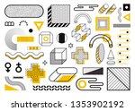 mega set of memphis design... | Shutterstock .eps vector #1353902192