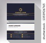business model name card black... | Shutterstock .eps vector #1353926765