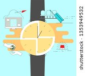 time management concept. in... | Shutterstock .eps vector #1353949532