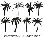 palm trees silhouettes....   Shutterstock .eps vector #1353964595
