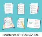 business checklist. priority... | Shutterstock .eps vector #1353964628