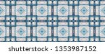 ethnic blue pattern.  geometry... | Shutterstock . vector #1353987152