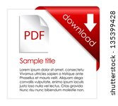pdf download cart  vector... | Shutterstock .eps vector #135399428