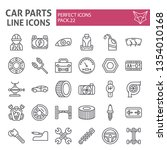 car parts line icon set ... | Shutterstock .eps vector #1354010168
