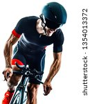 triathlete triathlon cyclist... | Shutterstock . vector #1354013372