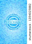 personable sky blue emblem....   Shutterstock .eps vector #1354025882