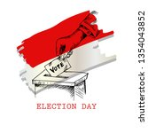 election day in indonesia  | Shutterstock .eps vector #1354043852