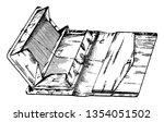 multiple compartment pocket... | Shutterstock .eps vector #1354051502