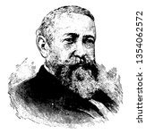 Benjamin Harrison, 1833-1901, he was an American politician, lawyer, United States senator from Indiana, and 23rd president of the United States from 1889 to 1893, vintage