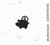piggy money bank  vector best... | Shutterstock .eps vector #1354070192