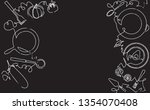 cooking seamless pattern.... | Shutterstock .eps vector #1354070408