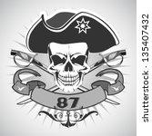 skull pirate. vector. | Shutterstock .eps vector #135407432