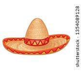 mexican hat. sombrero drawing....   Shutterstock .eps vector #1354089128