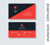 business card template design | Shutterstock .eps vector #1354118018