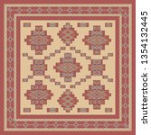 ethnic geometric pattern ... | Shutterstock .eps vector #1354132445