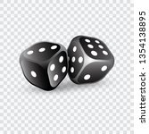 two dice. to gamble or gambling ... | Shutterstock .eps vector #1354138895
