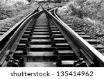 Line Of Railway Crossing In...