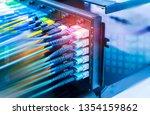 fiber optic telecommunication...   Shutterstock . vector #1354159862