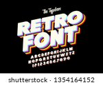 original typeface. retro font... | Shutterstock .eps vector #1354164152