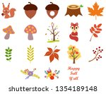 collection of autumn... | Shutterstock .eps vector #1354189148