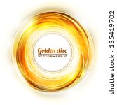 Abstract Golden Disk. Vector