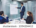 intelligent male leader of... | Shutterstock . vector #1354204412
