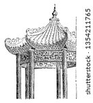 part of a chinese pavilion... | Shutterstock .eps vector #1354211765