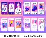 set isometric app 3d design... | Shutterstock .eps vector #1354243268