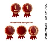 set of first place emblems and... | Shutterstock .eps vector #1354243922