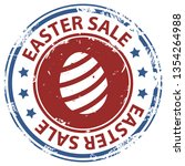 easter sale rubber stamp with...   Shutterstock . vector #1354264988
