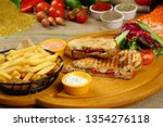 toasted sandwich   grilled... | Shutterstock . vector #1354276118