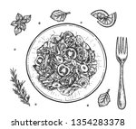 vector illustration of healthy... | Shutterstock .eps vector #1354283378