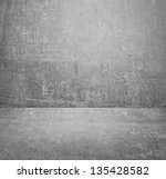 texture of an old cement wall | Shutterstock . vector #135428582