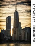 chicago skyline sunset | Shutterstock . vector #1354291505
