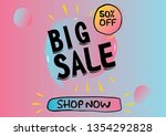 big sale banner gradient colors | Shutterstock .eps vector #1354292828