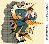 leader businessman breaks a... | Shutterstock .eps vector #1354304828