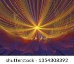 abstract flower shape fractal... | Shutterstock . vector #1354308392