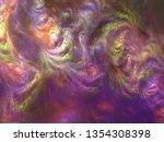 abstract galaxy shape fractal... | Shutterstock . vector #1354308398