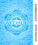 avenue realistic sky blue...   Shutterstock .eps vector #1354308845