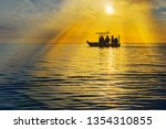 Fishing Boat Silhouette With...