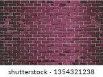 shiny burgundy brick wall  ...
